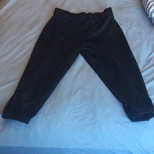 Black softball pants